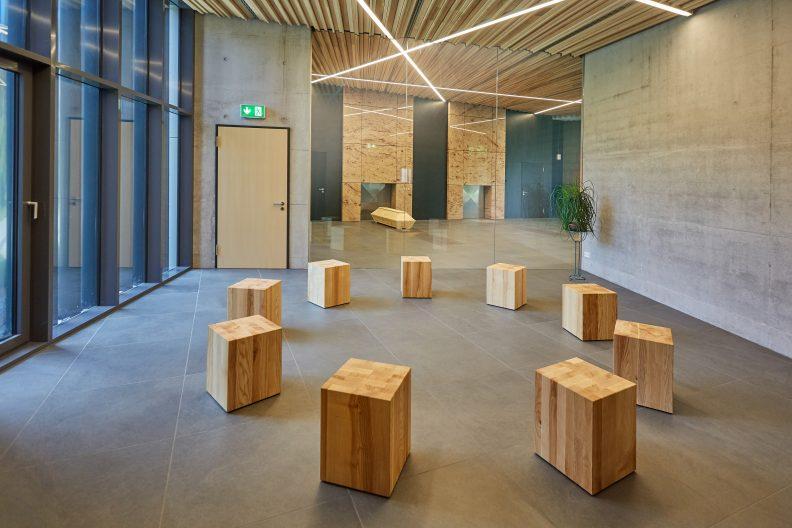 Projekt Krematorium Technik, Gebäude Innenansicht