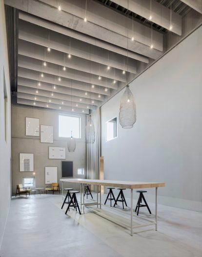 Projekt clubtraube, Gebäude Innenansicht