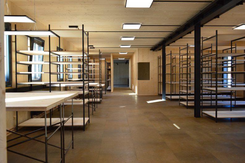 Projekt Kostkamm, Gebäude Innenansicht