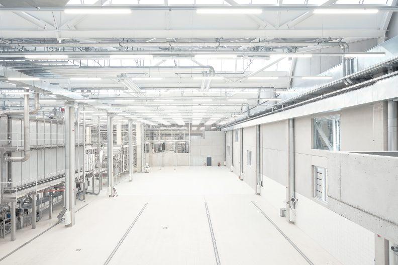 Produktionsgebäude Albgold, Innenansicht
