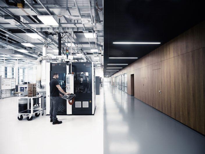 IWC Manufakturzentrum, Innenansicht