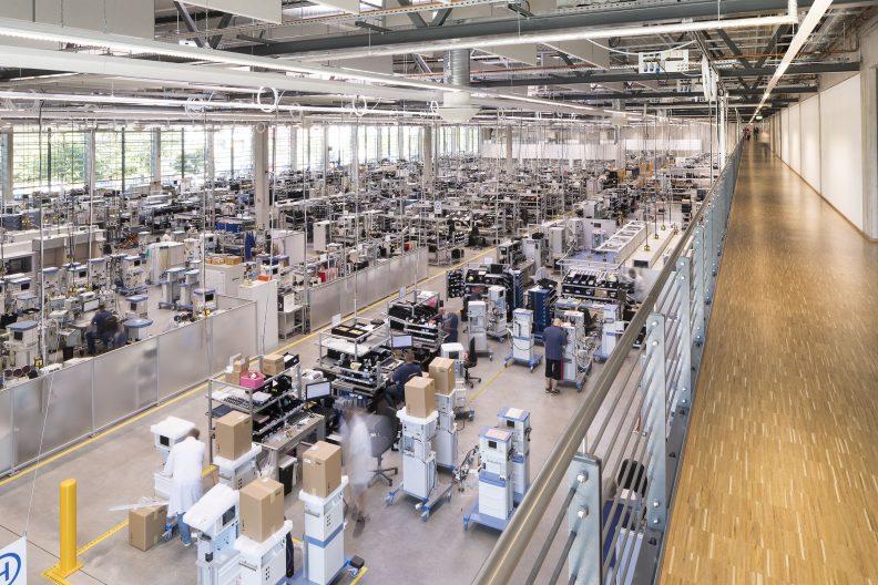 Dräger Zukunftsfabrik, Innenansicht