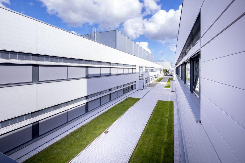 Dräger Zukunftsfabrik, Aussenansicht