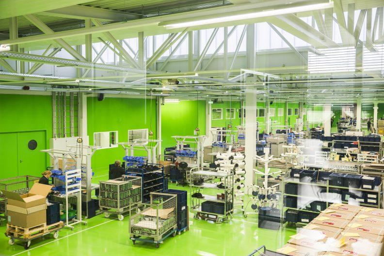 Industriegebäude für Medizintechnik, Innenansicht