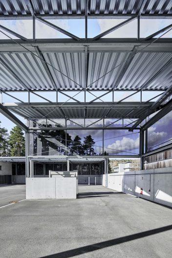 Wertstoffhof Morgenstelle, Blick in die offene Südhalle