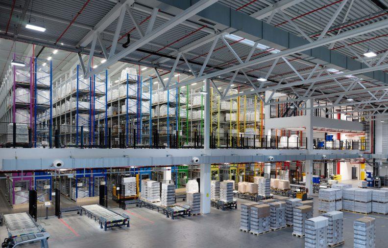 Logistik und Produktion Freilacke, Innenansicht