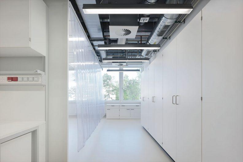Forschungszentrum MAIN, TU Chemnitz, Innenansicht Laborbereich