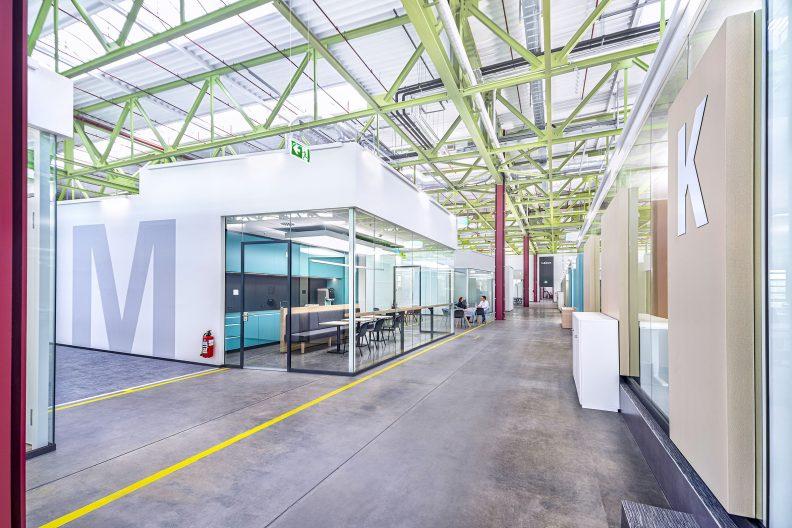 Innovationszentrum Heidelberger Druckmaschinen, Innenansicht