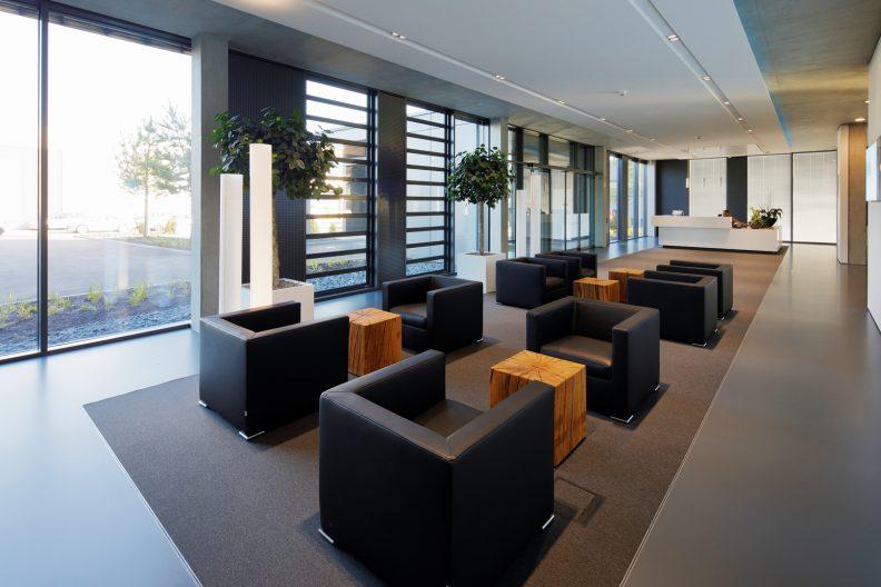 Projekt teamtechnik, Gebäude Innenansicht