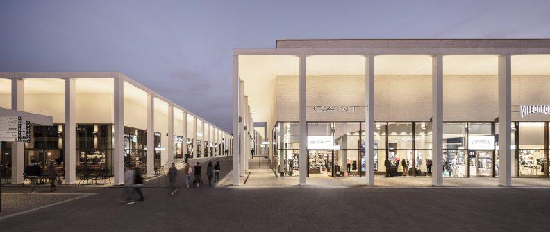 Gaenslen & Völter-Areal Visualisierung Ladenstraße mit Kolonnaden