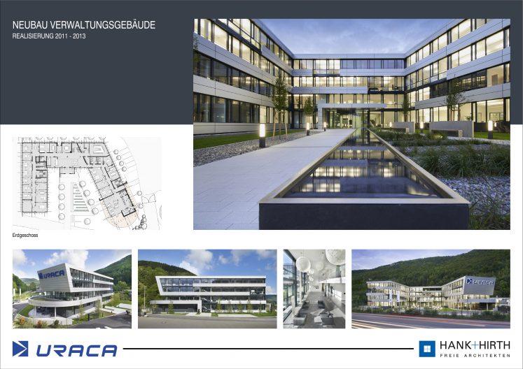URACA Bilder Neubau u-förmiges Verwaltungsgebäude