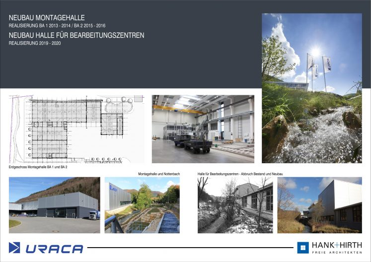 URACA Bilder Neubau Montagehalle und Halle für Bearbeitungszentren