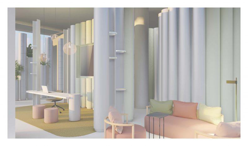Visualisierung Empfang mit Lounge