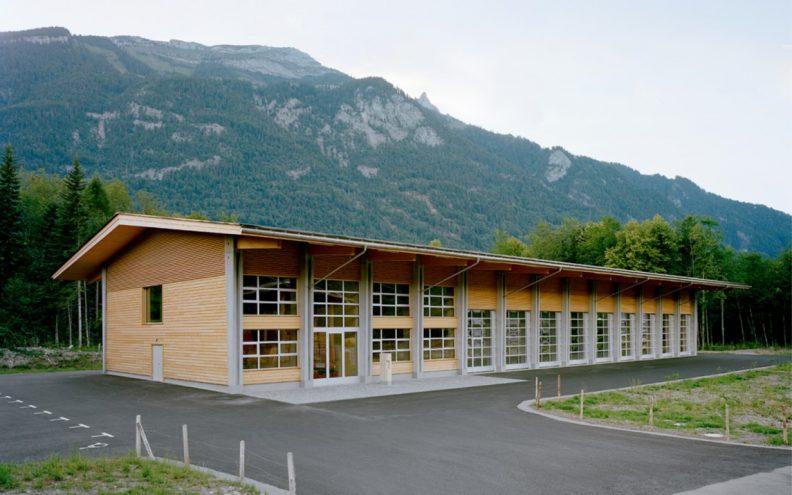 Projekt Forstwerkhof, Gebäude Aussenansicht
