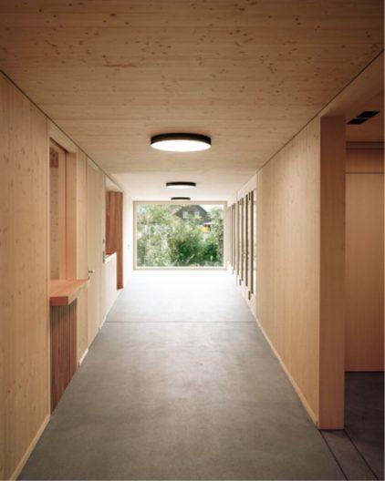 Projekt Forstwerkhof, Gebäude Innenansicht