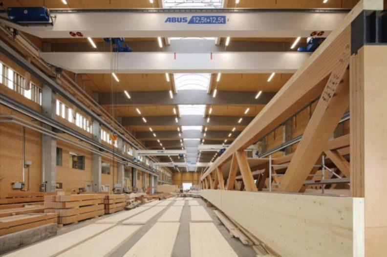 Holzbau Zukunftwerkstatt, Innenansicht