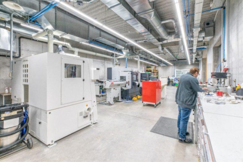 Produktionsgebäude HPM, Innenansicht