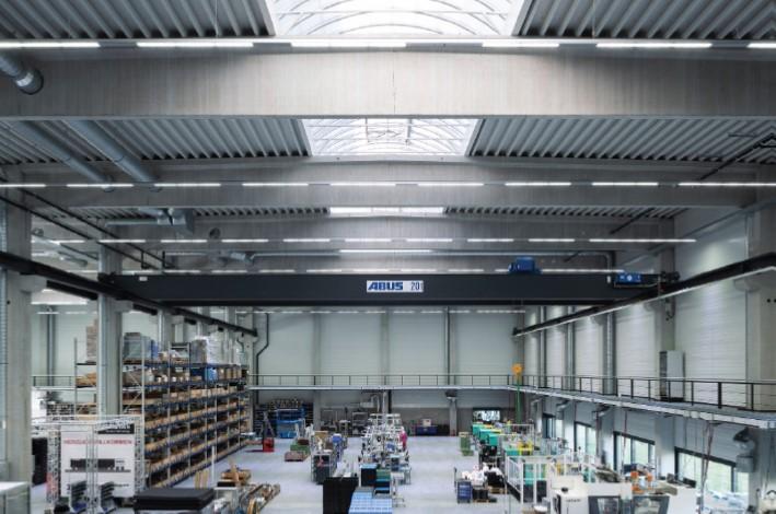 Produktionshalle Herrmann, Innenansicht