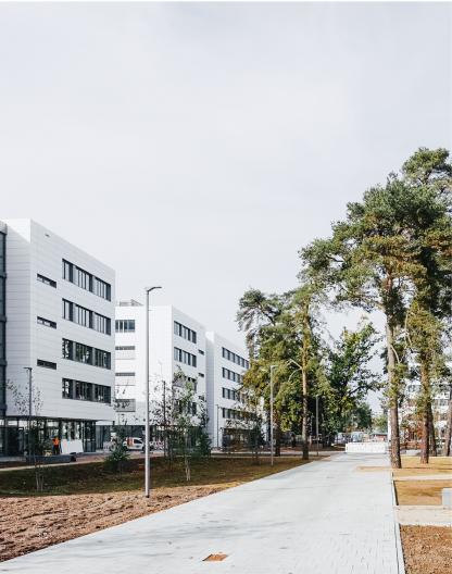 Siemens Campus Erlangen Außenperspektive Quartier