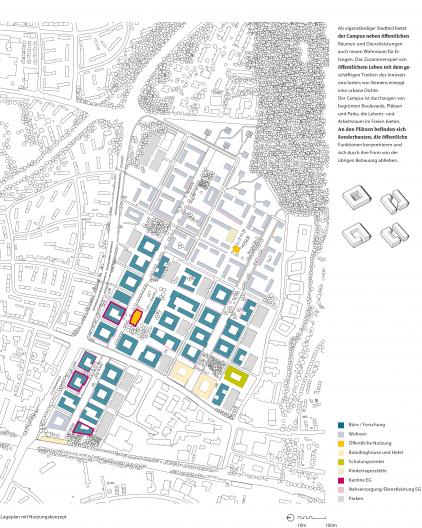 Siemens Campus Erlangen Lageplan mit Nutzungskonzept