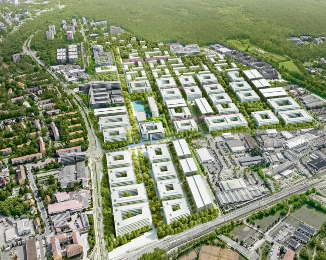 Siemens Campus Erlangen Vogelperspektive