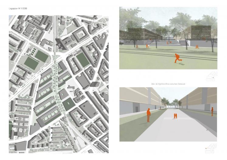 Lageplan 1:500 Quartier und Schaubilder