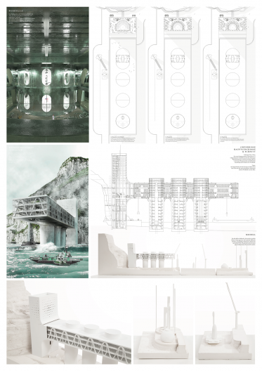 Grundrisse Hauptgeschoss und Visualisierung Innen sowie Außen, Modellbilder