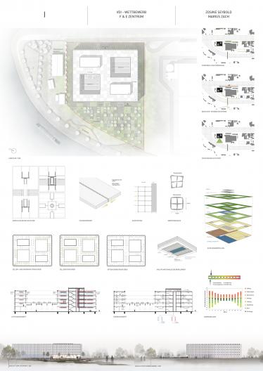 Wettbewerbsplan Konzept Aufteilung Grundrisse und Gebäudetechnik