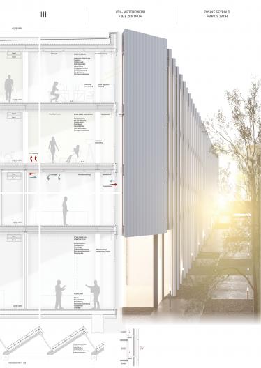 Wettbewerbsplan Fassadendetailschnitt