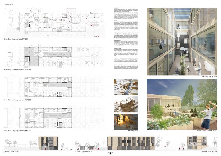 Übersichtsplan Grundrisse, Ansichten und Perspektiven