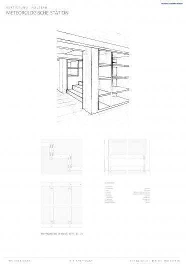Treppenmöbeldetails, konstruktive Verbindungen