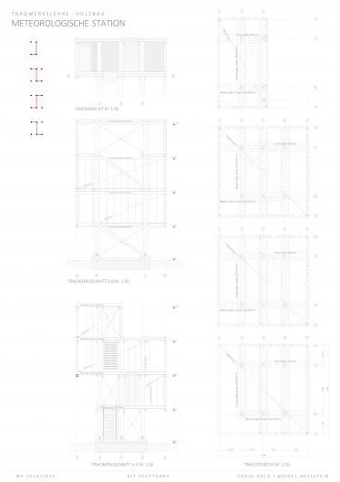 Tragstruktur und Tragwerksschnitt Detail M 1:50