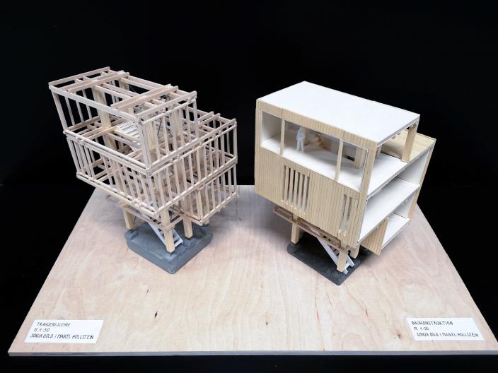 Tragwerkslehre Modell 1:50 und Baukonstruktion Modell 1:50
