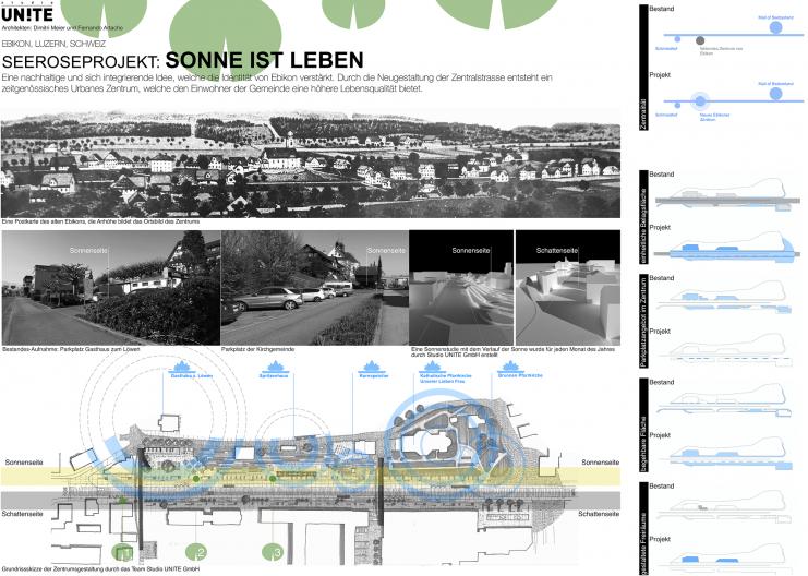 Seeroseprojekt Übersichtplan Bestandssituation und Projektschwerpunkte