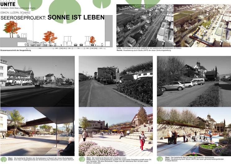 Seeroseprojekt bebilderte Gegenüberstellungen der städtebaulichen Veränderungen_Vorher und Nachher